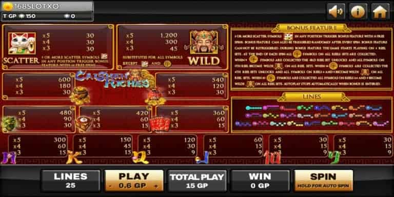Caisher Riches เกมสล็อตทำเงิน